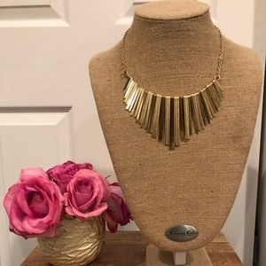 Anthropologie gold choker statement necklace